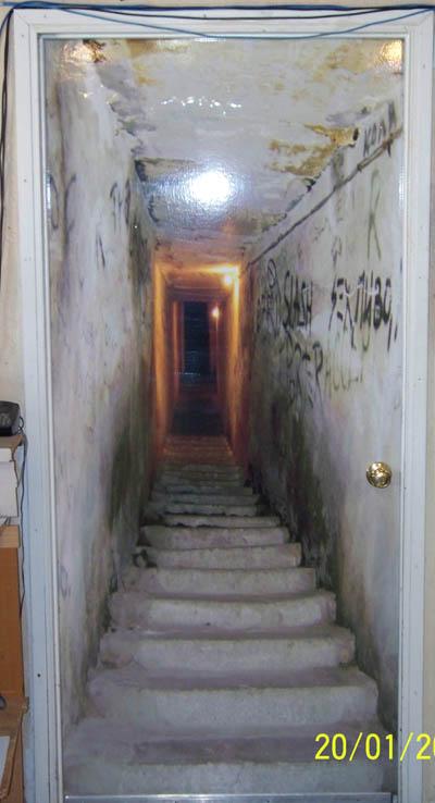dark hallway door